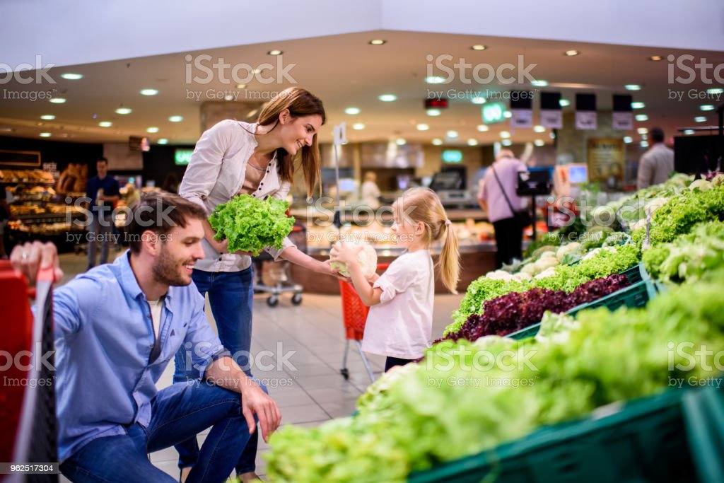 Família de compras  - Foto de stock de Adulto royalty-free