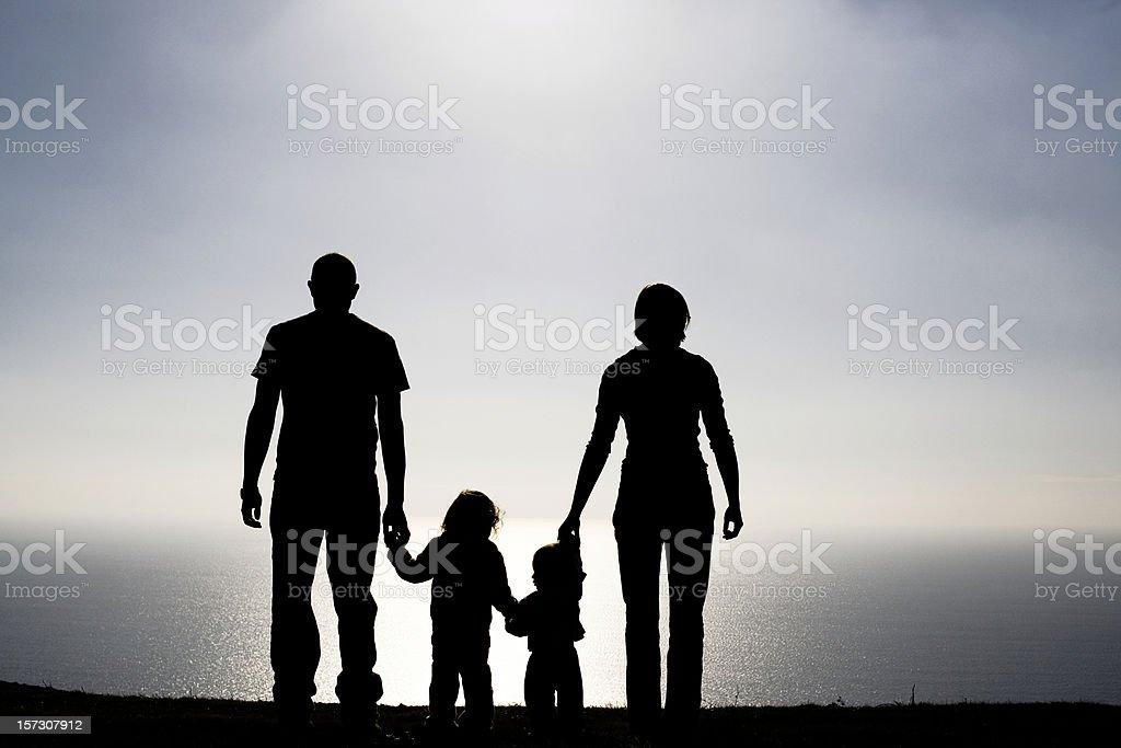 Family silhouette royalty-free stock photo