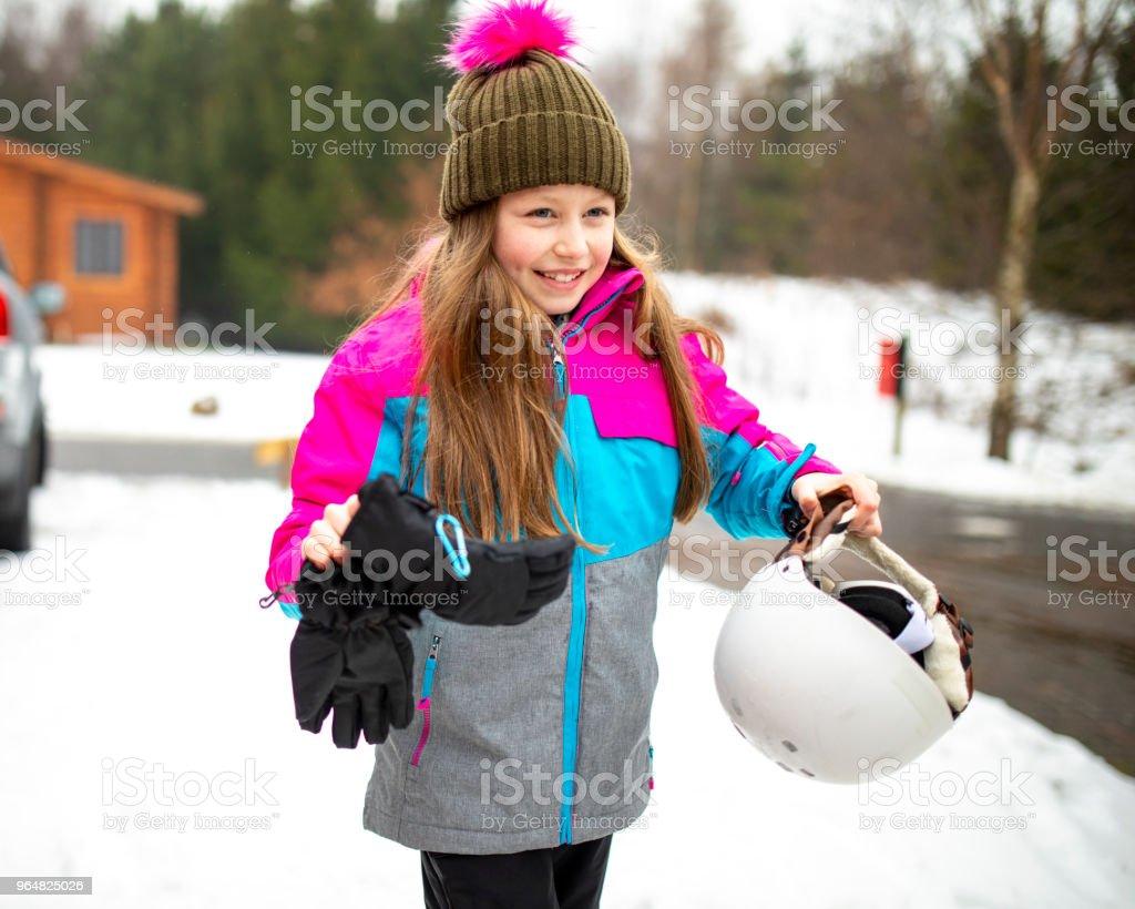 Family Ski Vacation royalty-free stock photo