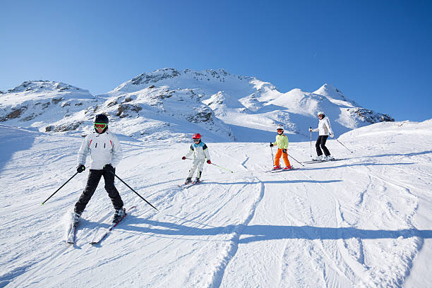 Family skiing on sunny day picture id182885496?b=1&k=6&m=182885496&s=612x612&w=0&h=67zhr8kxfcdbmgqwryfolzctugii5co0eoylphktib0=