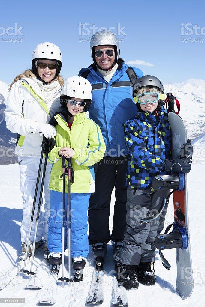 Family Skiing royalty-free stock photo
