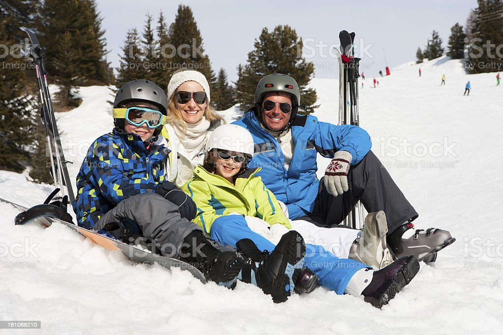 Family Skiing royalty-free stock photo