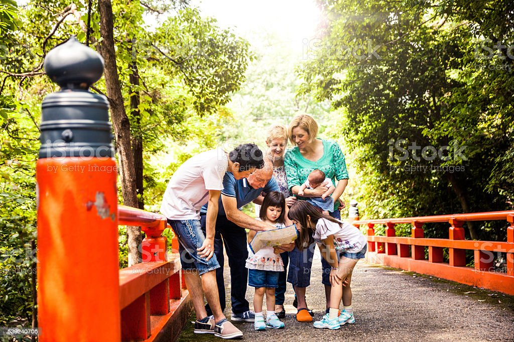 Family spending a weekend in the nature royalty-free stock photo