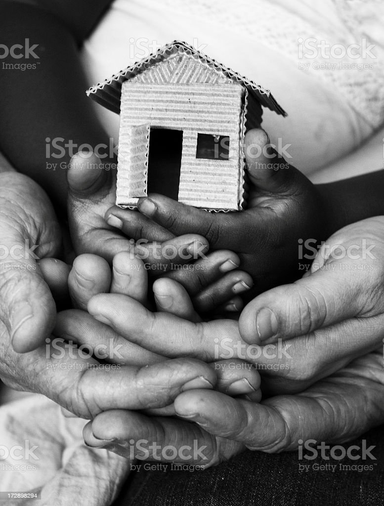 family structure stock photo