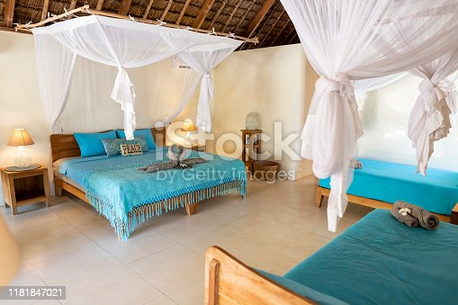 Family suite in luxury island hotel