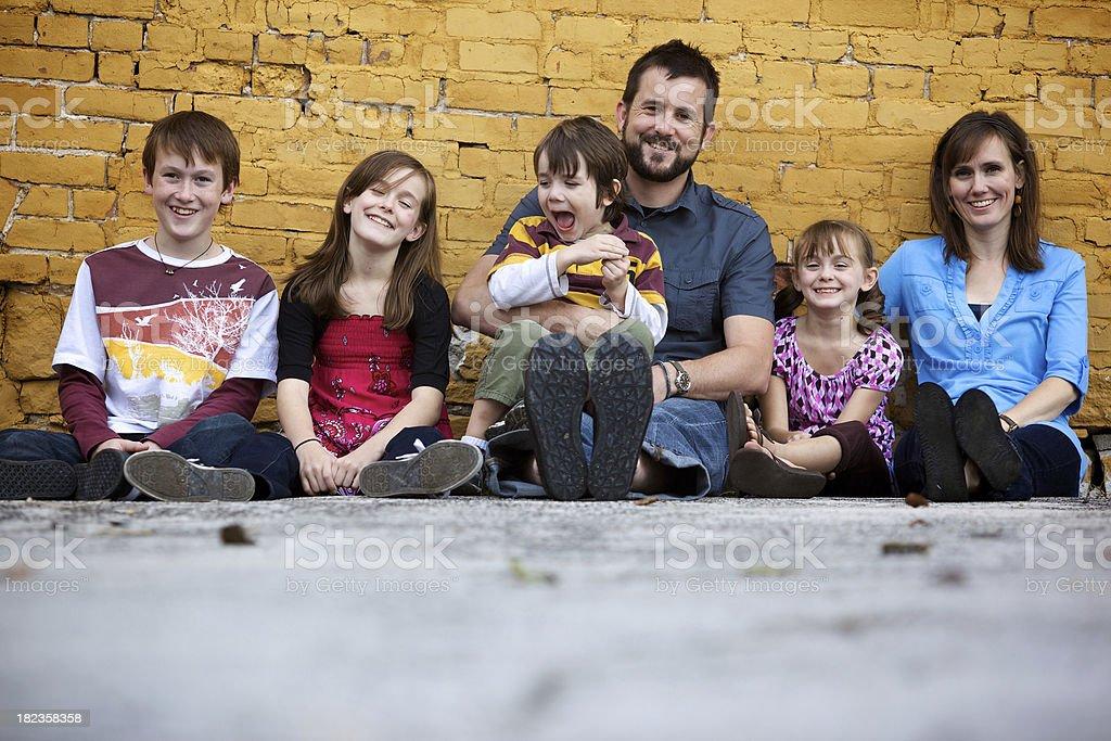 Family summer portraits royalty-free stock photo