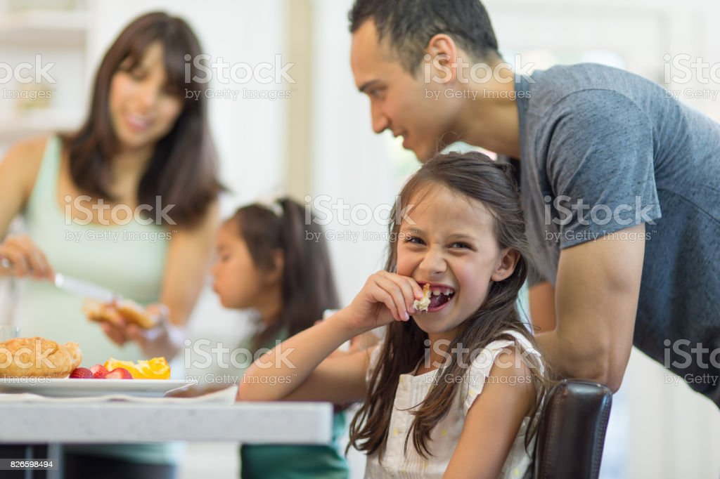 Family supper stock photo