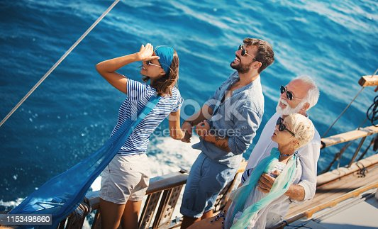 istock Family taking a sailing cruise. 1153498660
