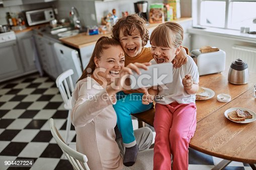 894071774 istock photo Family taking a selfie 904427224