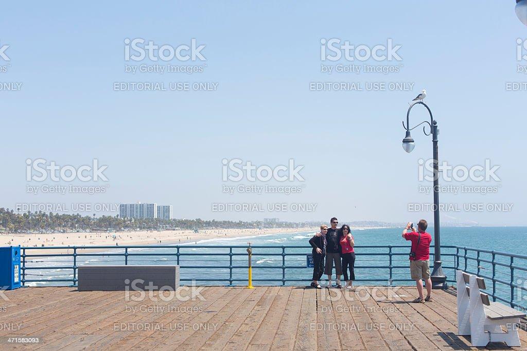 Family Taking Vacation Photos royalty-free stock photo