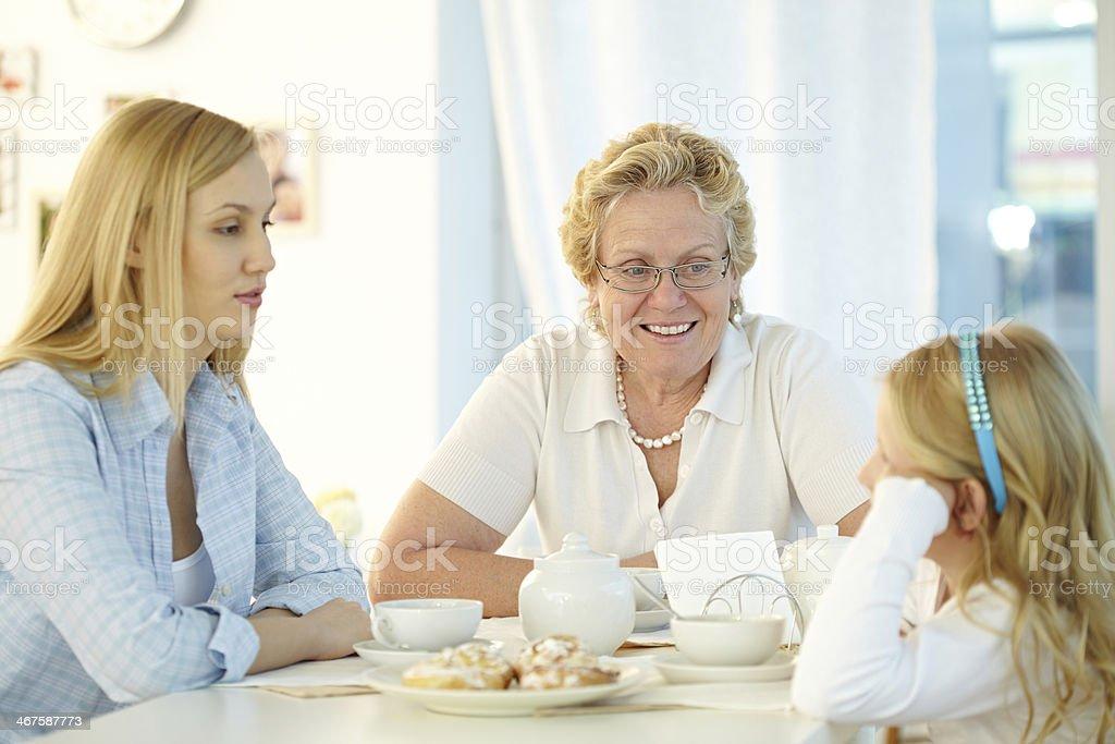 Family talk royalty-free stock photo