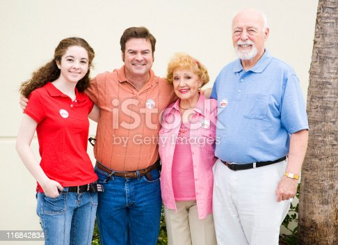 1001754954 istock photo Family That Votes Together 116842834
