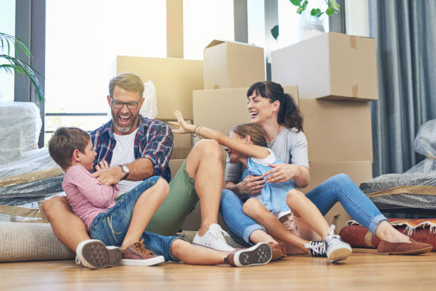 family - the foundation of a home - house hunting stock photos and pictures
