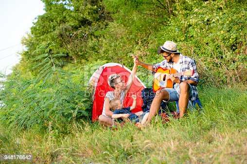 istock Family time, camping 948176642