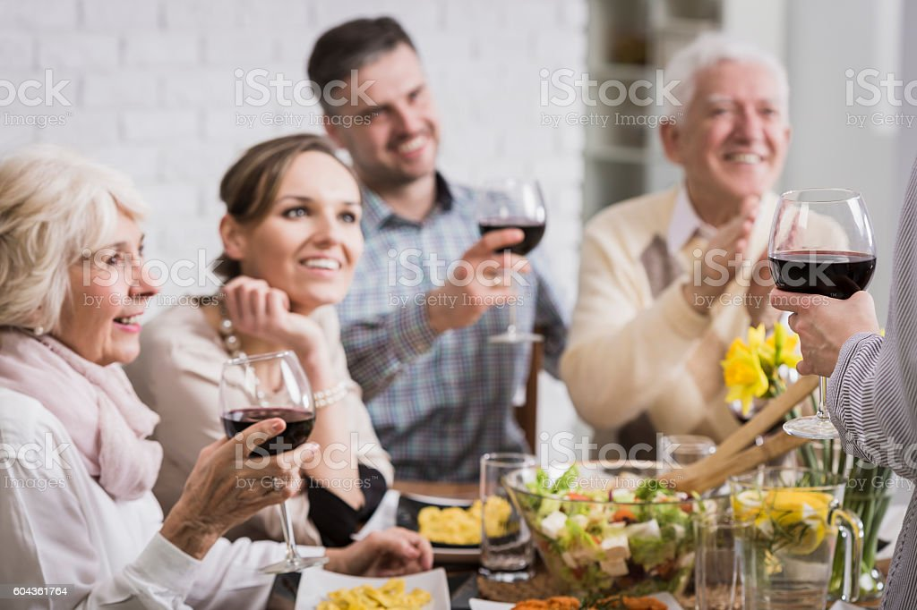 Family time for the celebration stock photo