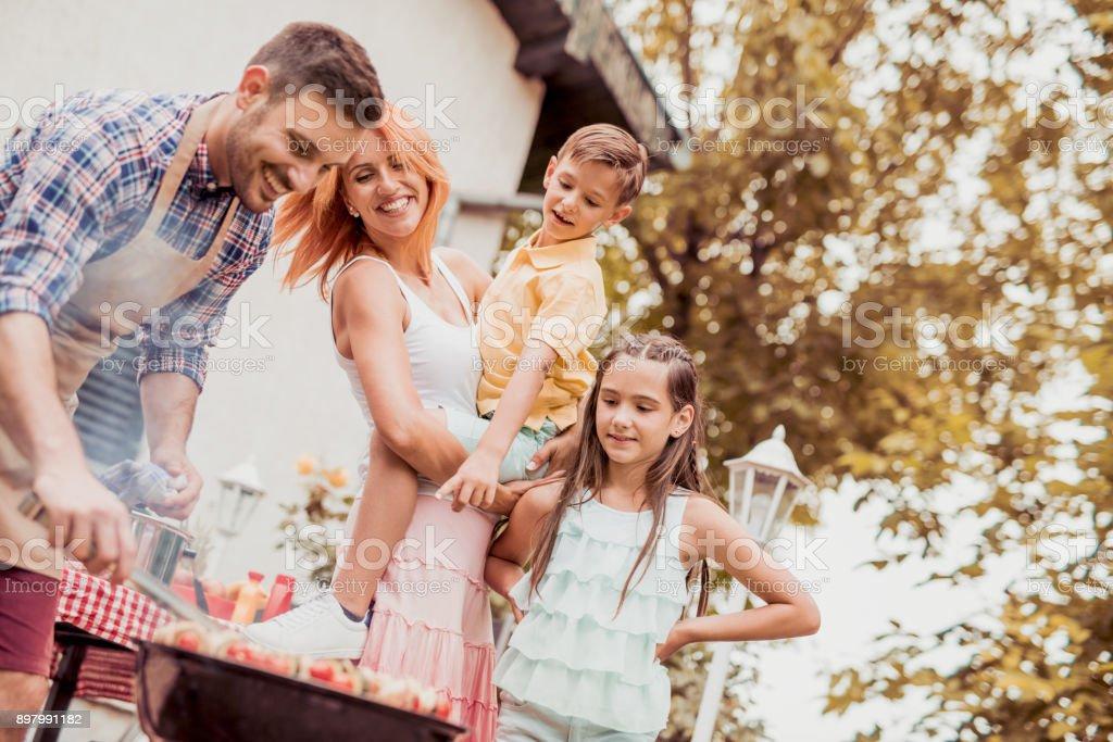 Zeit mit der Familie Spaß zusammen – Foto