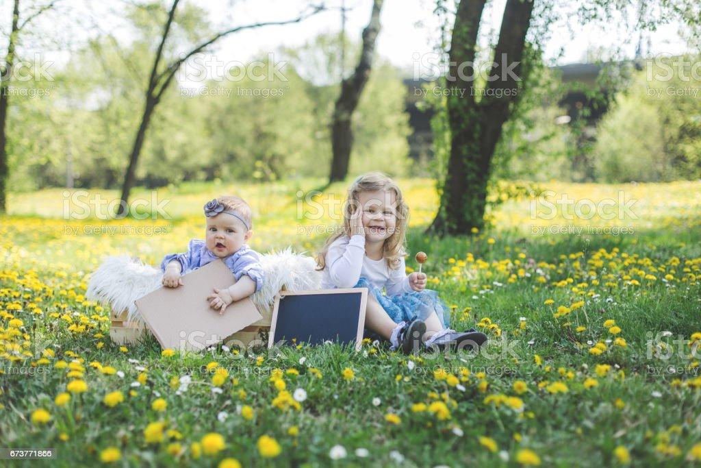 Moments en famille dans la nature photo libre de droits