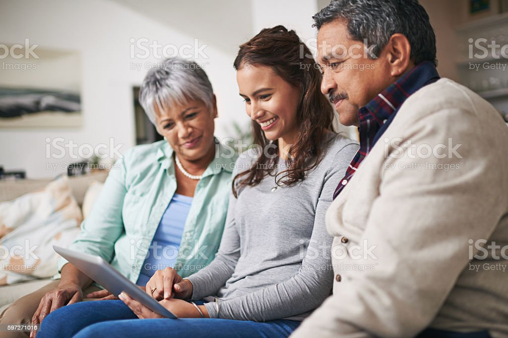 Family time, online Lizenzfreies stock-foto