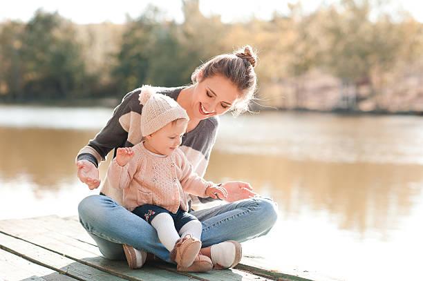 Family time outdoors stock photo