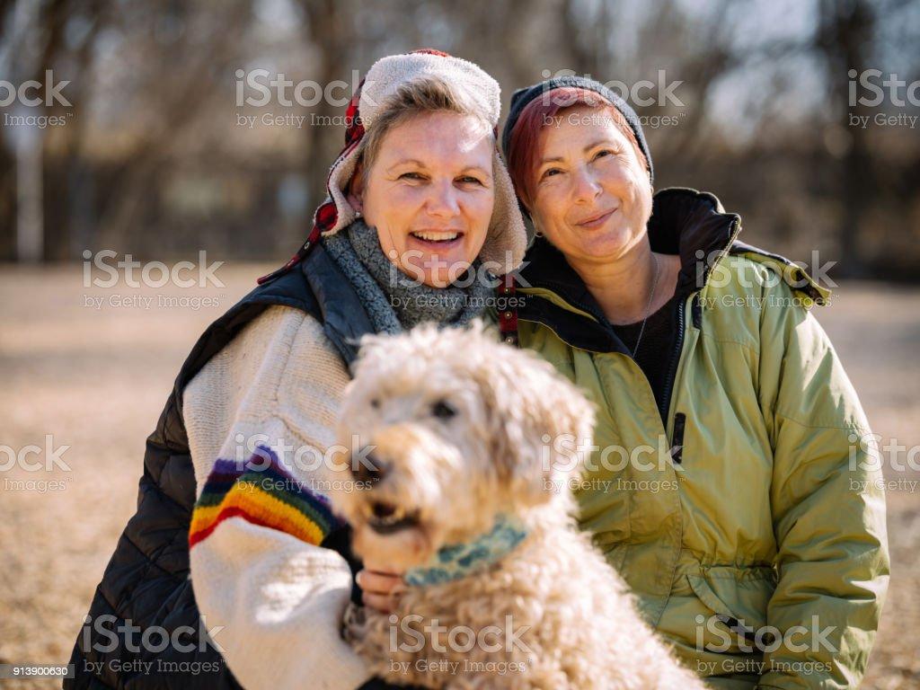 LGBTQ family time stock photo
