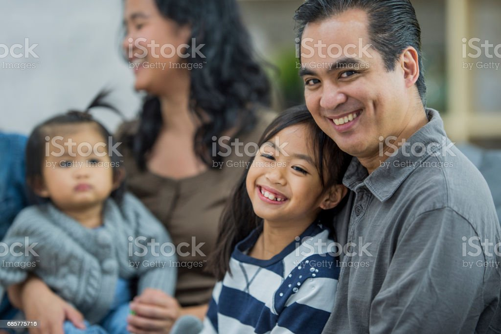 Family time with the Kids royalty-free stock photo