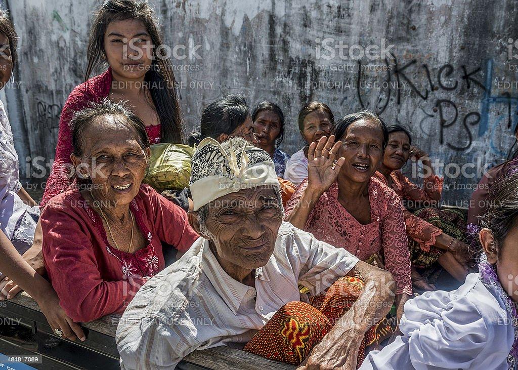 Family Transport in Bali stock photo