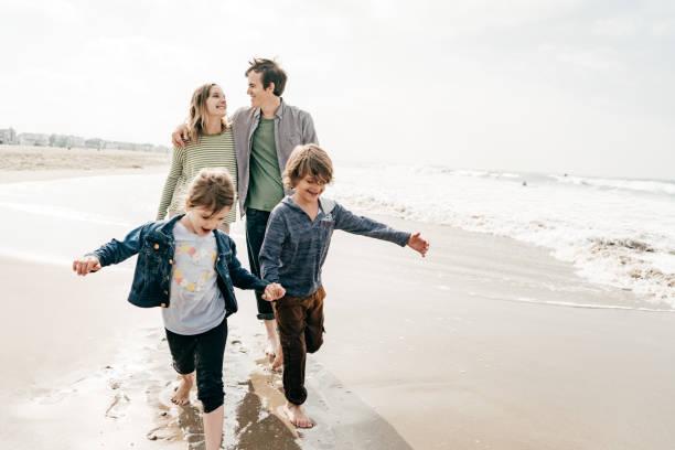 Family travel insurance stock photo