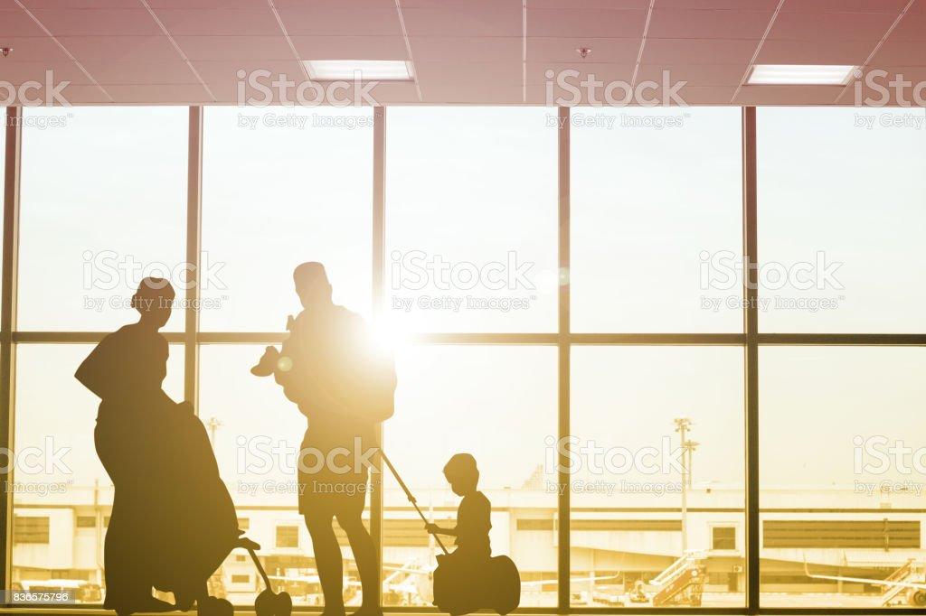 Family travel stock photo
