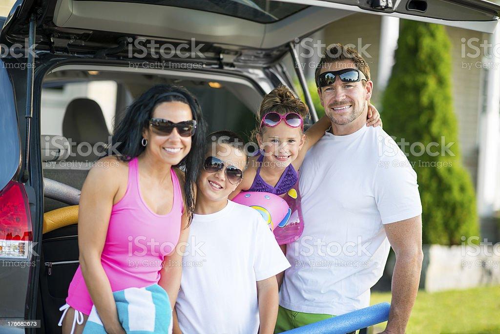 Family Trip royalty-free stock photo
