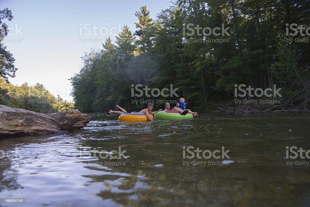 Family Tubing stock photo