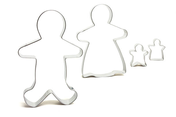 Family Unit Abstract  cookie cutter stock pictures, royalty-free photos & images