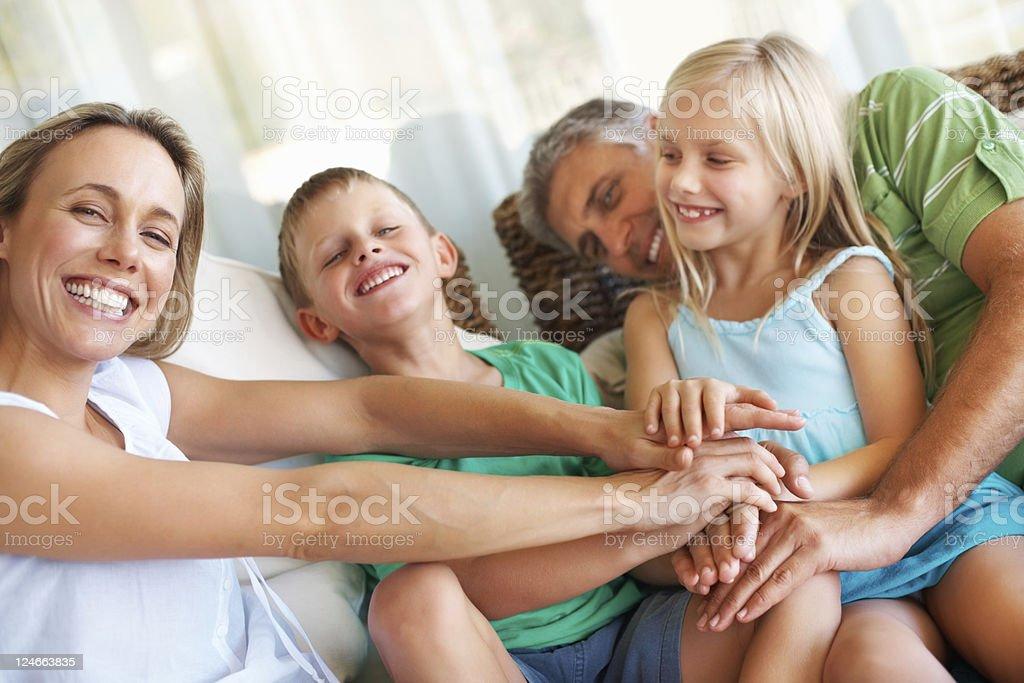 Familienzusammenführung Lizenzfreies stock-foto
