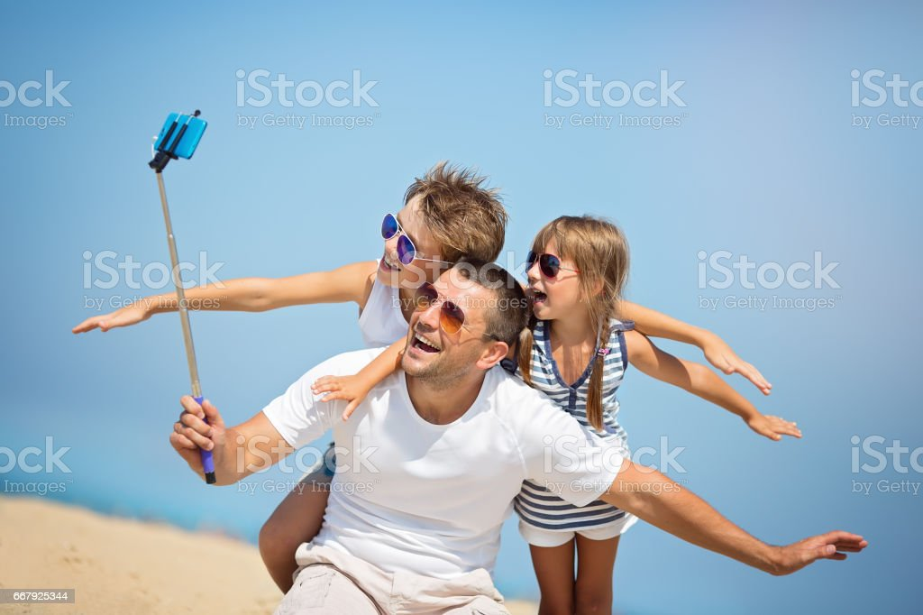 Family, vacation concept stock photo