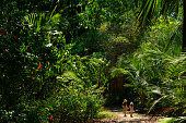 Children in the tropical climate of Costa Rica
