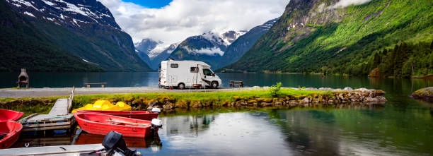 Familienurlaub Reisen RV, Urlaubsreise im Wohnmobil – Foto
