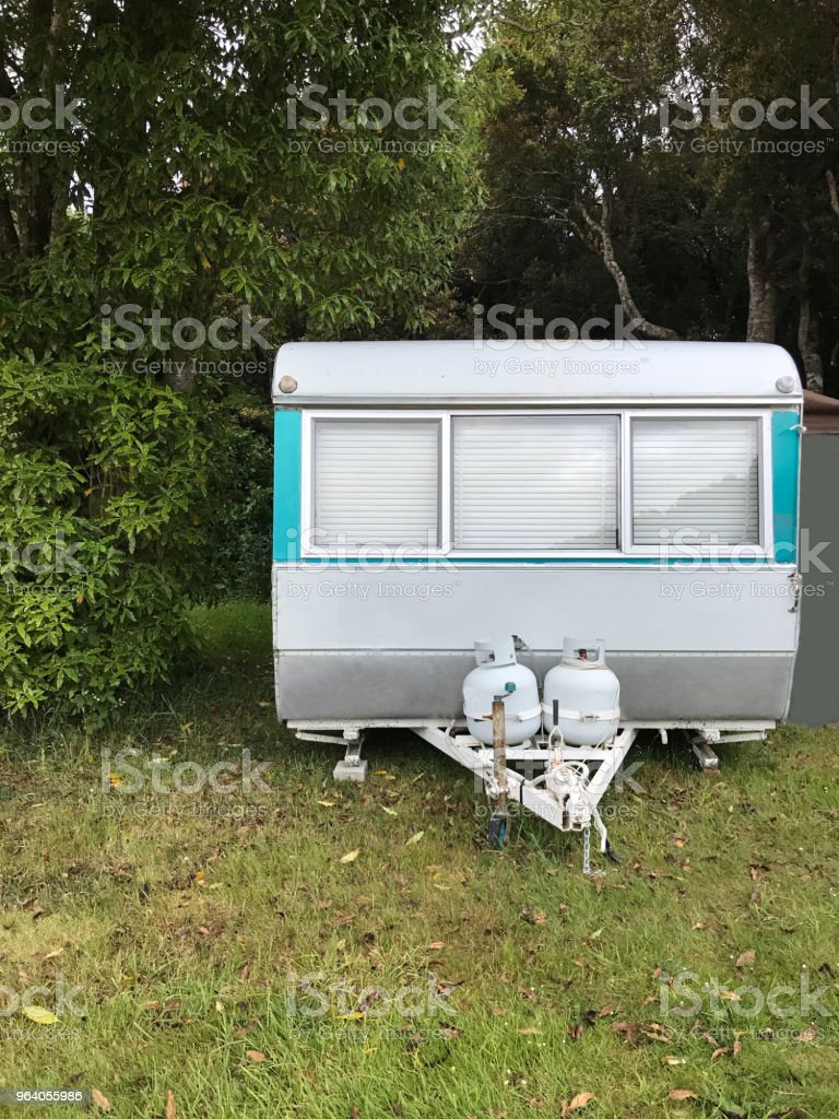 Family vacation trip, leisurely travel in motor home, Happy Holiday Vacation in camping car. Beautiful Nature New Zealand natural landscape Scenic route with camper van in New Zealand. - Royalty-free Adventure Stock Photo