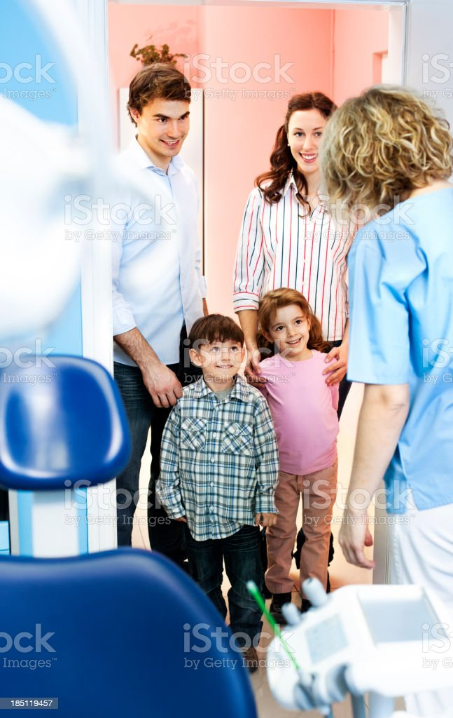Family Visit Dentist Office royalty-free stock photo