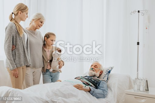 909569706 istock photo Family visitng the man 1212378952