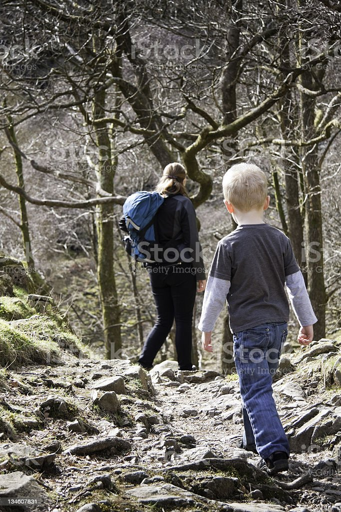 Family Walk royalty-free stock photo