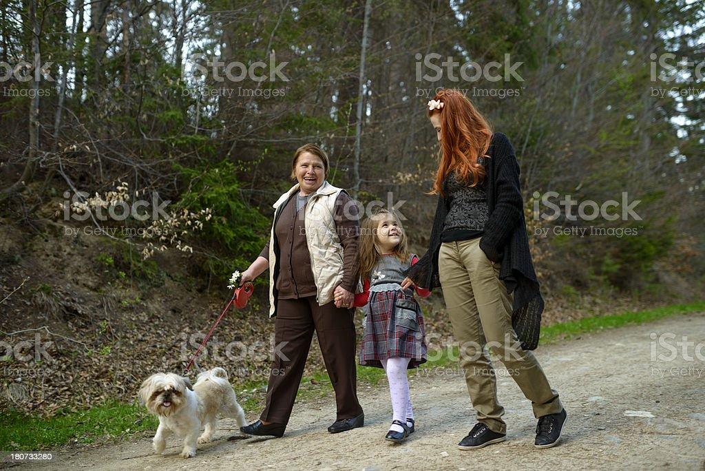 family walking royalty-free stock photo