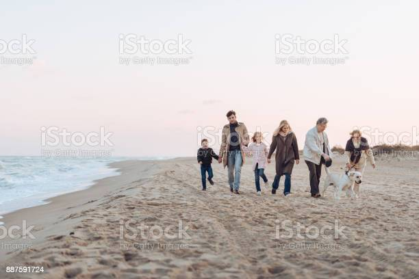 Family walking with dog at seaside picture id887591724?b=1&k=6&m=887591724&s=612x612&h= drfwad9qpjayfbdaxkqsfduuk2ep88n6w01q9z8uyq=