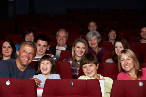 istock Family Watching Film In Cinema 178433674
