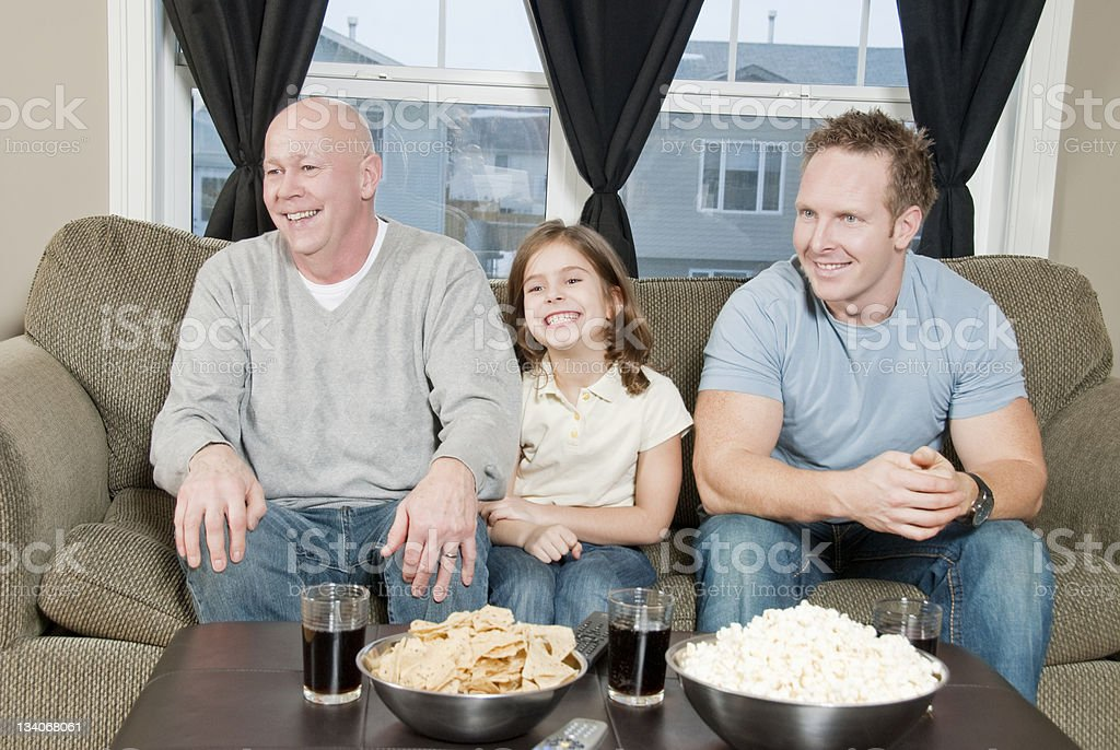 Family Watching the Game royalty-free stock photo