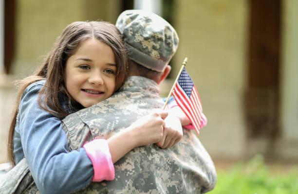 Die Familie begrüßt die Heimat der USA-Soldaten. – Foto