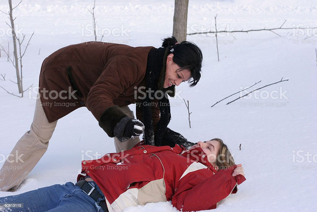 Family winter fun! royalty-free stock photo