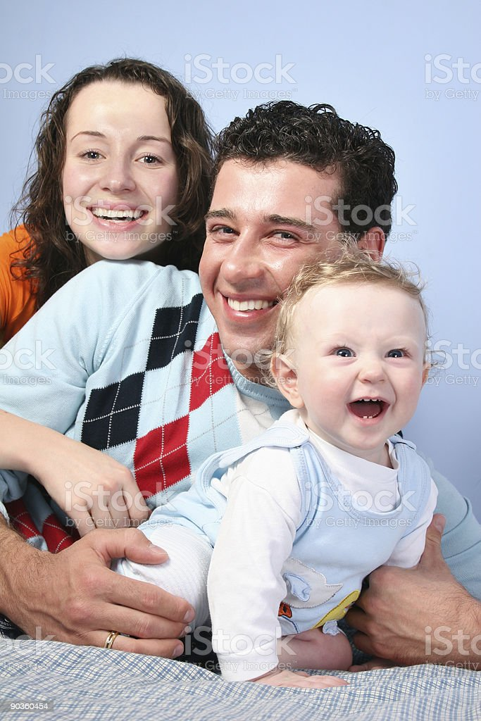 family with baby 3 royalty-free stock photo