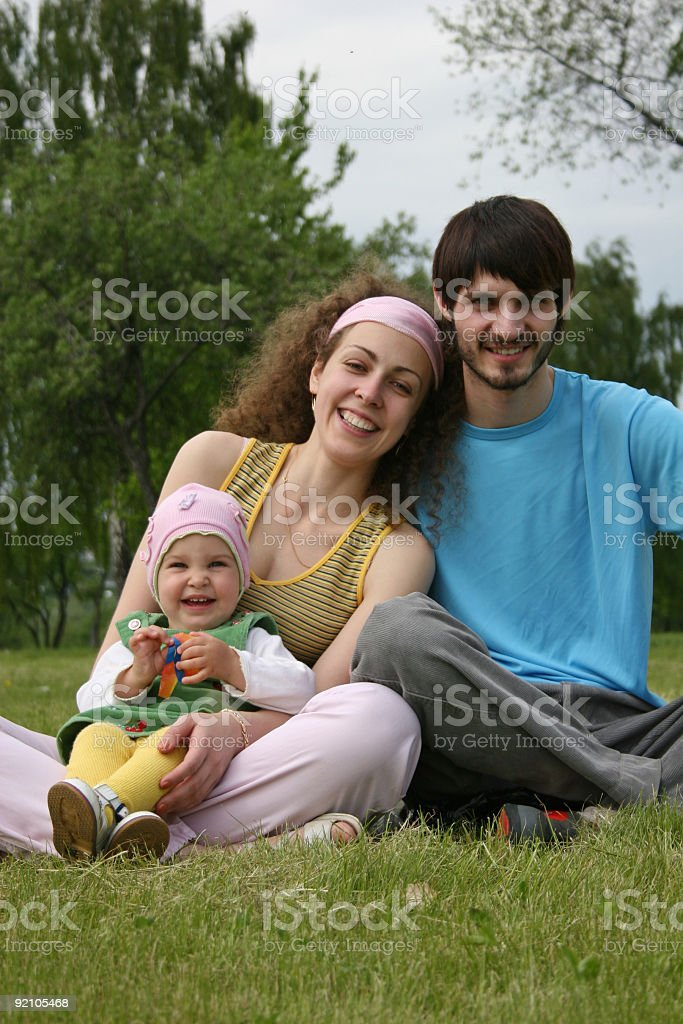 family with baby royalty-free stock photo