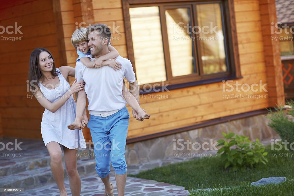 Family with child stock photo