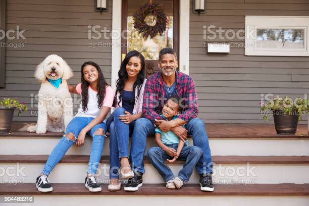 Family with children and pet dog sit on steps of home picture id904483216?b=1&k=6&m=904483216&s=612x612&h=jqb9sk8jsduhv 1xsjhuwyxvcqfrhhl  rwg3zgmfey=