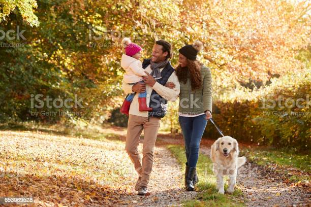 Family with daughter and dog enjoy autumn countryside walk picture id653069528?b=1&k=6&m=653069528&s=612x612&h=mo4usz5zf235ooh1pmswnnwhcjg86mkze j hwv 5tk=